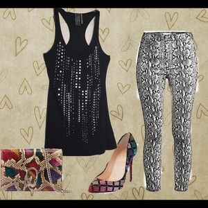 Guess Studded and Embellished Tank